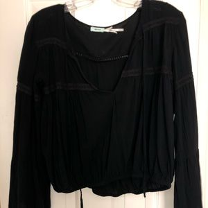 Urban Outfitters black boho top